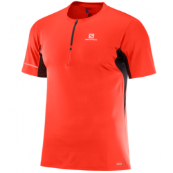 Salomon AGILE HZ SS TEE M Fiery Red