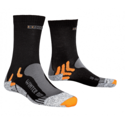 X socks RUN WINTER Noir