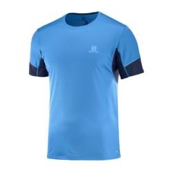 Salomon T-shirt Agile SS Homme Bleu ciel