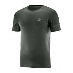 T Shirt Salomon Agile SS Homme Noir